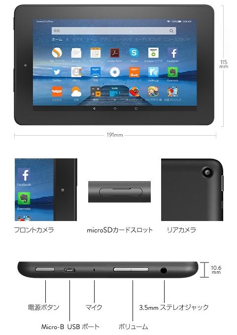 fireタブレット2