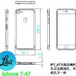iPhone7,iPhone7 Plusの図面リークか?iPhone6sシリーズと比較!