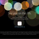 Apple,9月7日に「Apple Event – Keynote September 2016 」を実施すると発表!iPhone7/7Plusシリーズの発表か?