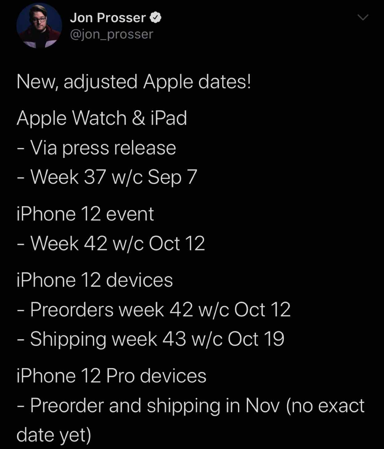 AppleWatchやiPad1、そして次期iPhoneシリーズの発表時期について